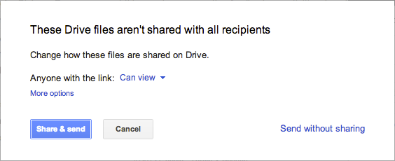 Gmail Compose Google Drive