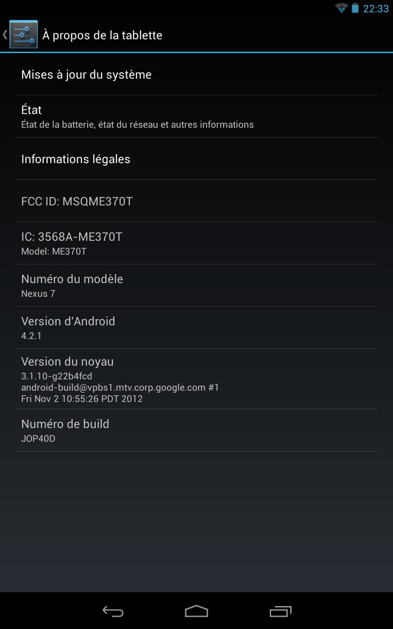 Android 4.2.1 Nexus 7