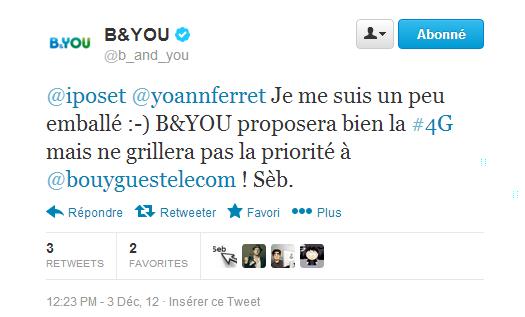b&you tweet 4g