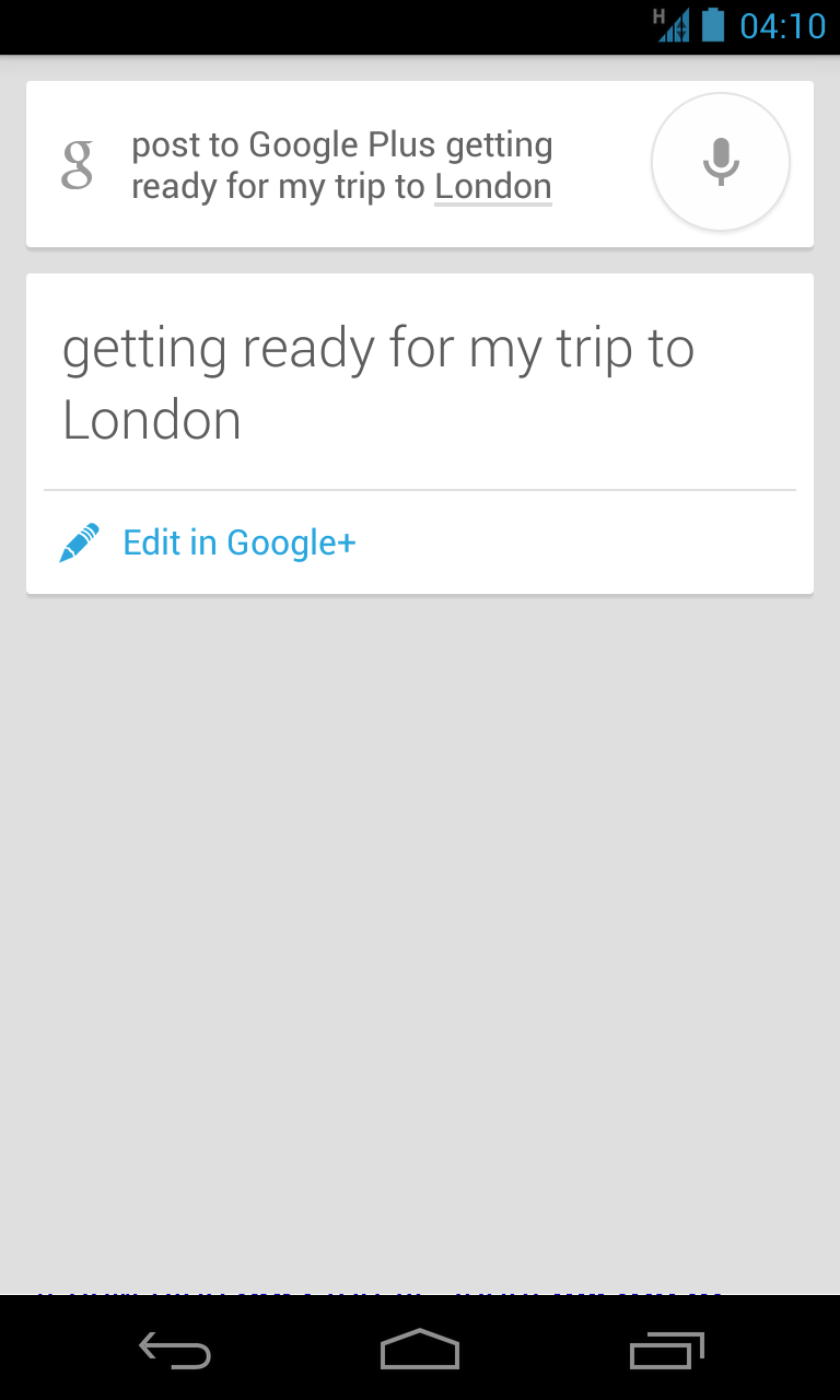 google now search