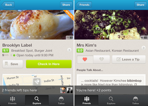 foursquare ios android