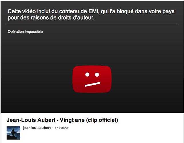 blocage emi youtube