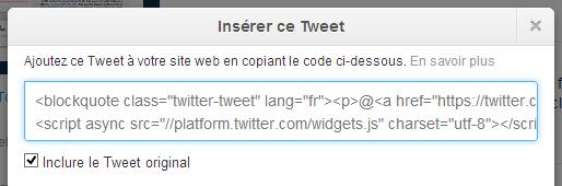Twitter Tweet Embarqué
