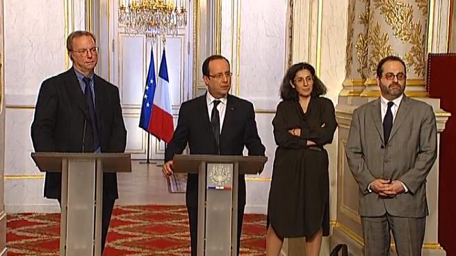 François Hollande Eric Schmidt