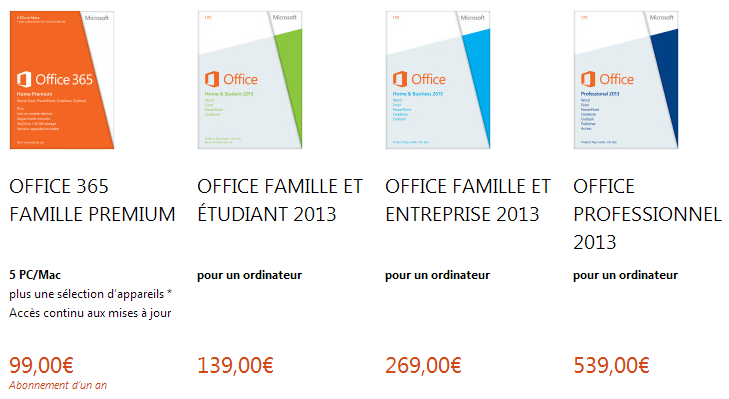 Microsoft interdit le transfert de la licence office 2013 - Installer office famille et etudiant 2013 ...