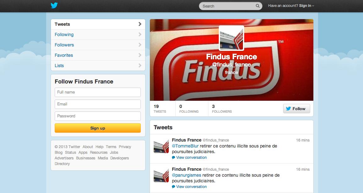 Findus veut purger le web une proc dure bien cavali re for Bien purger ses radiateurs