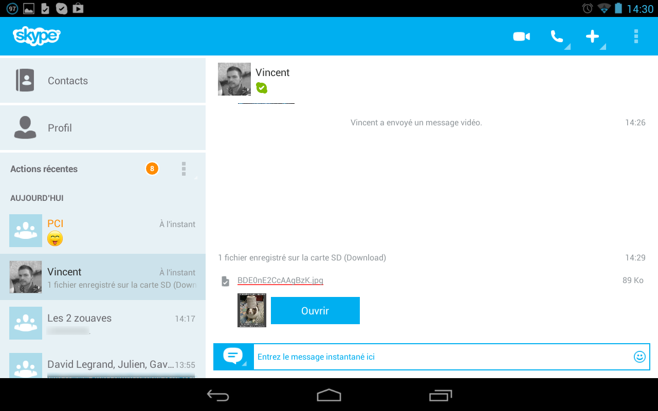 Skype windows 8 bureau bug for Bureau windows 8