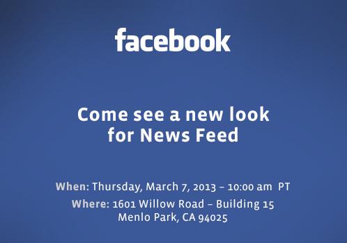 Conférence Facebook 7 mars Fil d'actualité