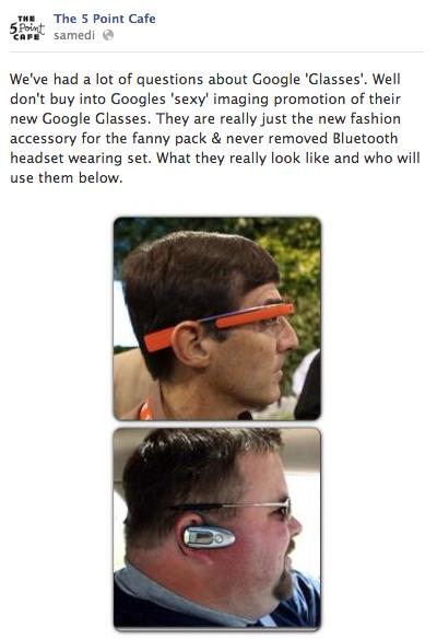 The 5 Point Café Google Glass