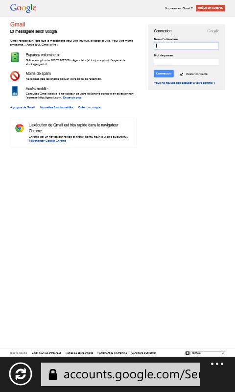 Windows Phone Gmail