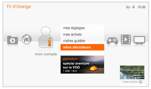 Livebox Play décodeur TV