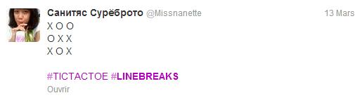 Twitter Linebreaks