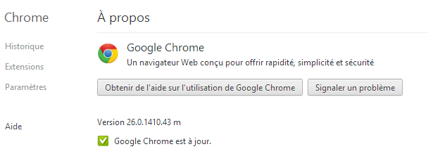Google Chrome 26