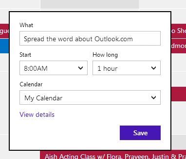 outlook.com calendrier