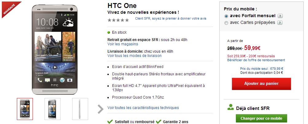 HTC One opérateurs