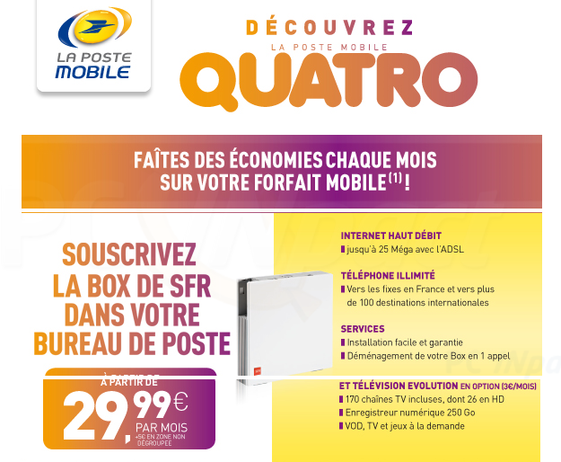 Quatro Les Postiers Beta Testeurs De L Offre Quadruple Play De La