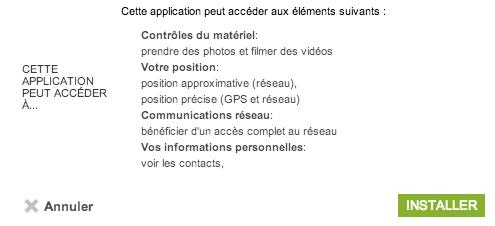 App autorisations