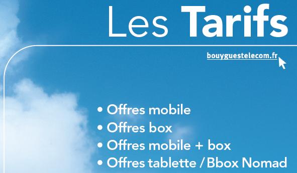 Bouygues Telecom avril tarif