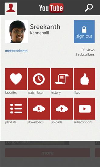 YouTube Windows Phone 8