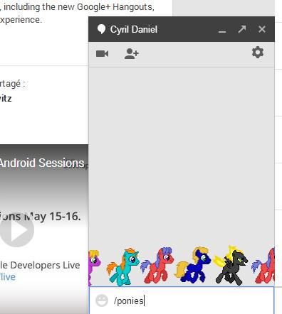 Google Hangours Poneys