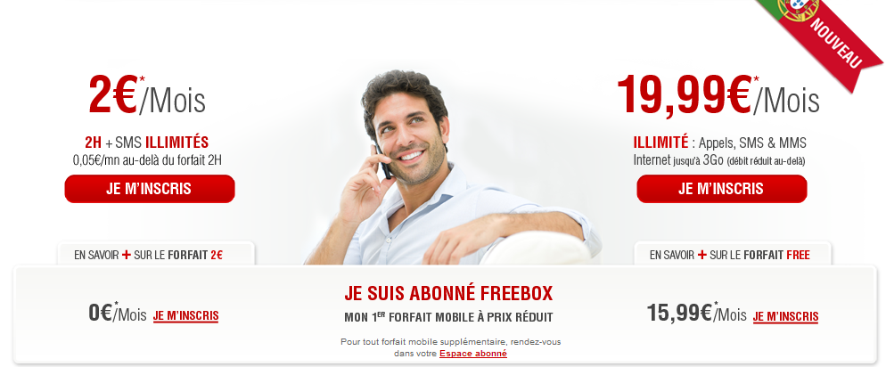 free mobile deux forfaits 15 99 avec un seul abonnement freebox. Black Bedroom Furniture Sets. Home Design Ideas