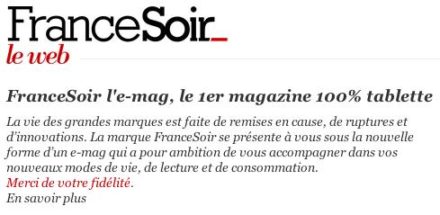 France Soir iPad