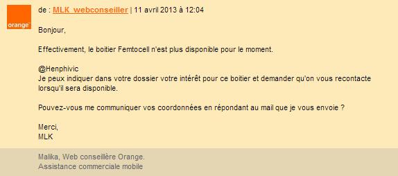 Orange Femto-cell