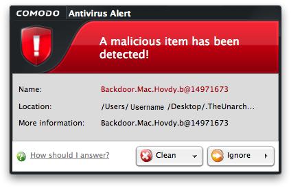 Antivirus Alert