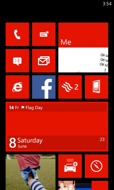 Windows phone blue