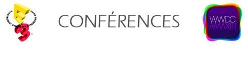 Conférences E3 WWDC