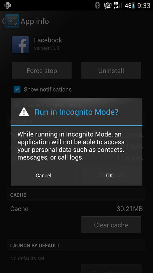 CyanogenMod incognito