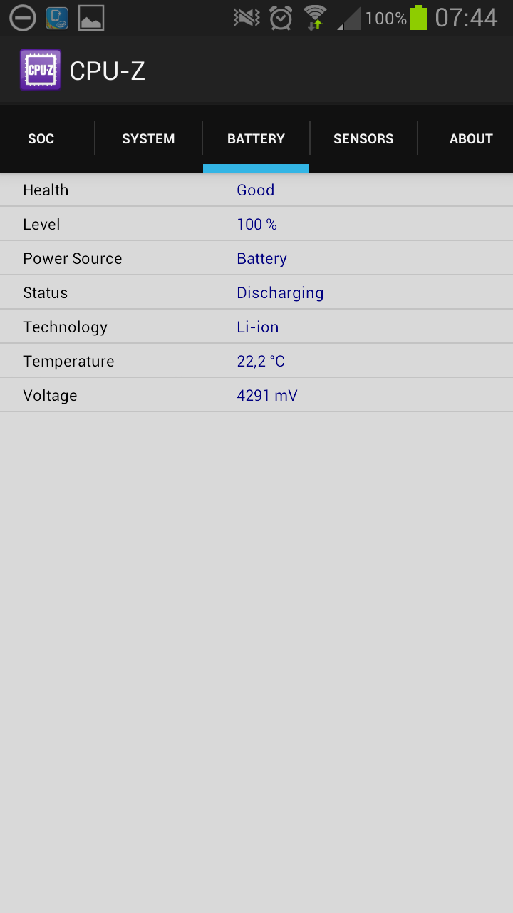 CPU-Z Android 1.01