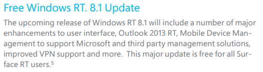 Windows RT 8.1 mise à jour