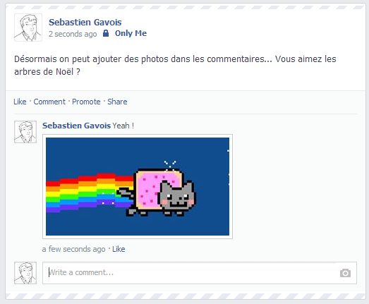 Facebook photo commentaire
