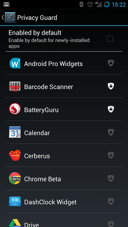 CyanogenMod Privacy Guard Manager