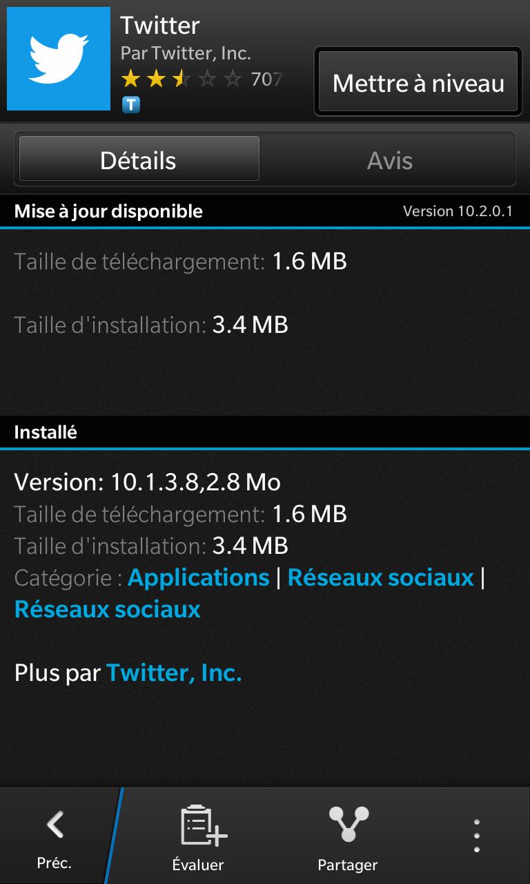 Twitter BlackBerry 10.2