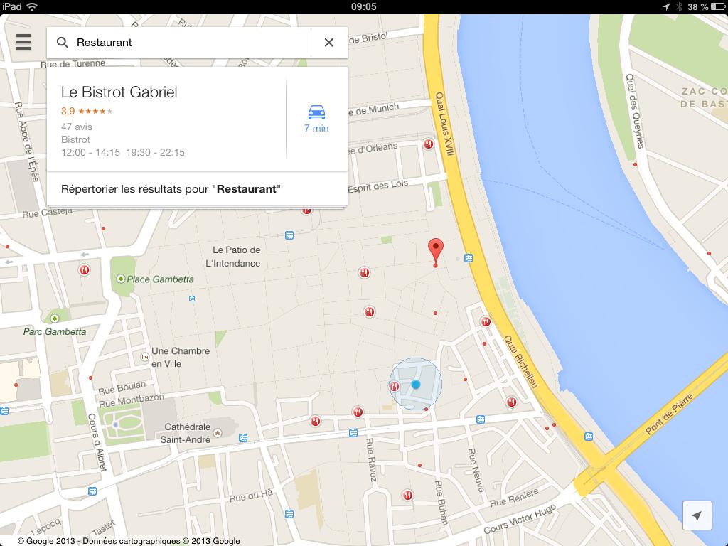 how to close google maps on ipad