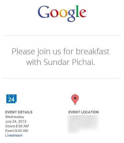 Google Invitation 24 juillet