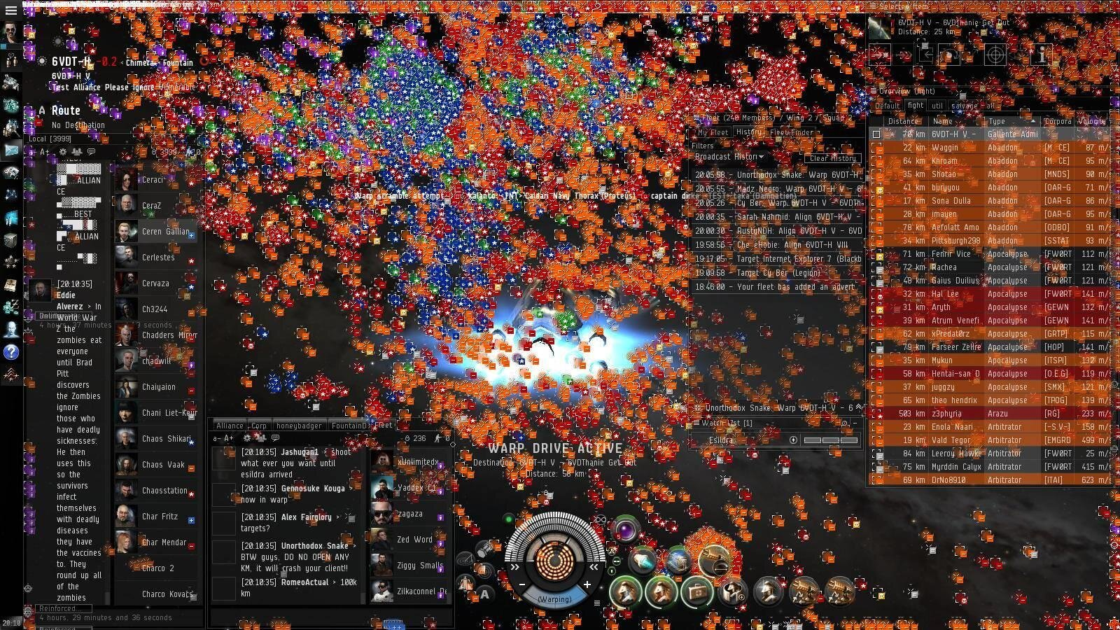 Exceptionnel EVE Online : 3 000 pilotes et 225 000 € de dégâts pour la bataille  SV92