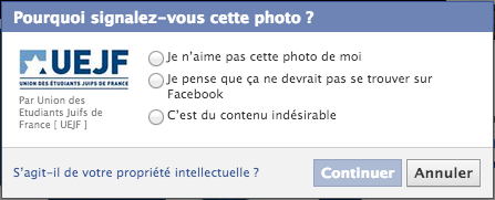 signalement facebook uejf