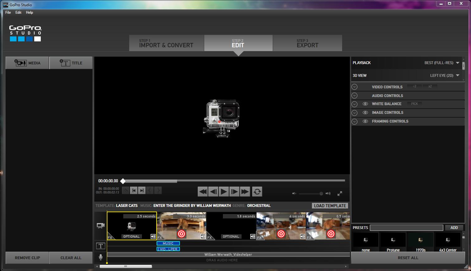 gopro studio templates download - gopro studio 2 0 cr ez simplement des montages vid os