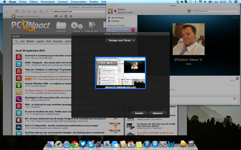 Skype 6 9 pour os x peut partager l 39 cran de mani re s lective for Photo ecran osx