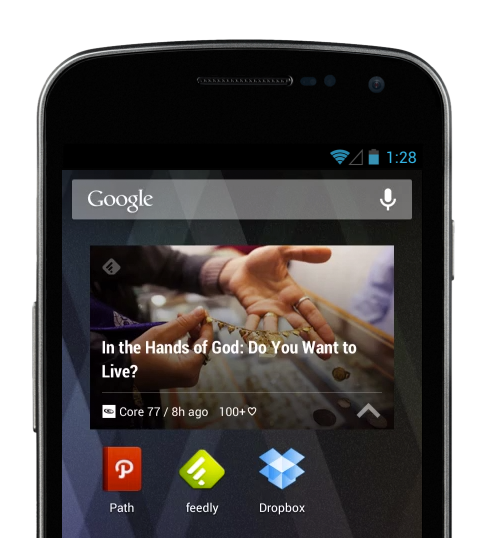 Widget Feedly Android