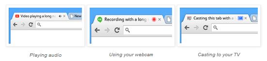 Chrome onglet bruyant