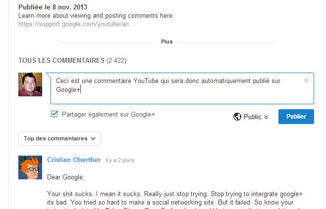 Google+ YouTube