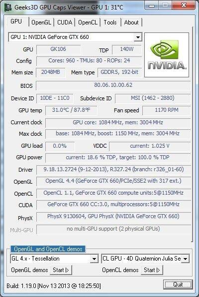 GPU Caps Viewer 1.19.0