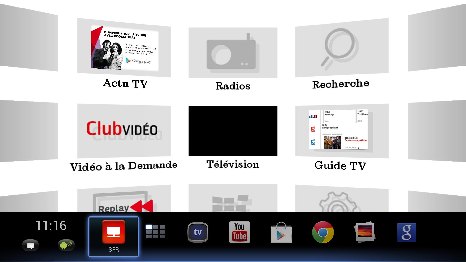 Décodeur TV SFR avec Google Play