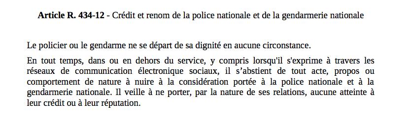 Policiers Et Gendarmes Tenus A La Discretion Sur Les Reseaux Sociaux