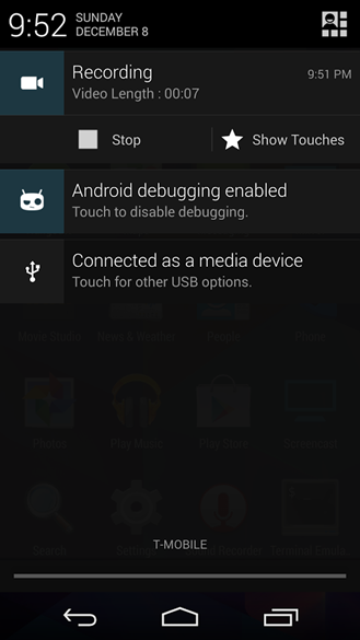 CyanogenMod Screencast