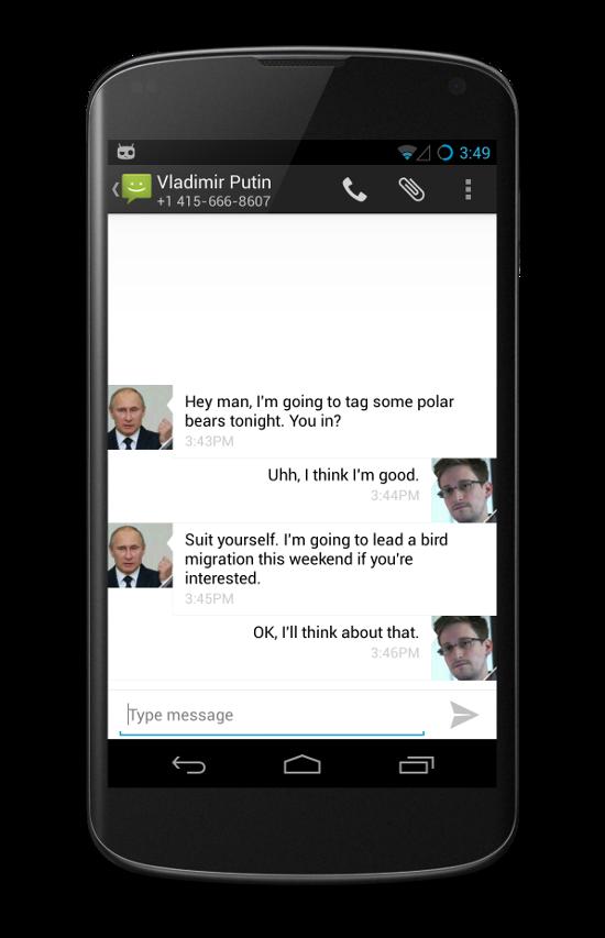 CyanogenMod TextSecure intégration